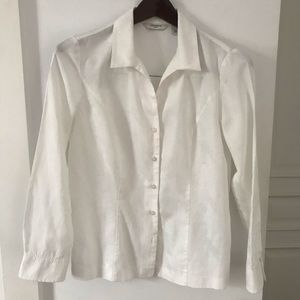 Accents In Order White Textured Button Down Shirt